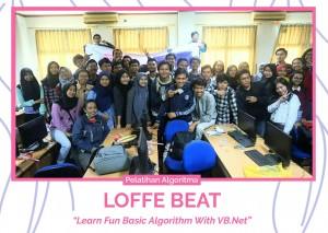 Review Kegiatan PELATIHAN LOFFE BEAT (LEARN FUN BASIC ALGORITHM WITH VB.NET) WITH HIMASIS