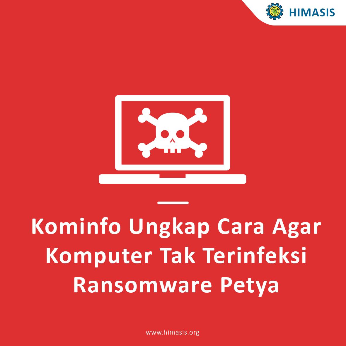 Kominfo Ungkap Cara Agar Komputer Tak Terinfeksi Ransomware Petya